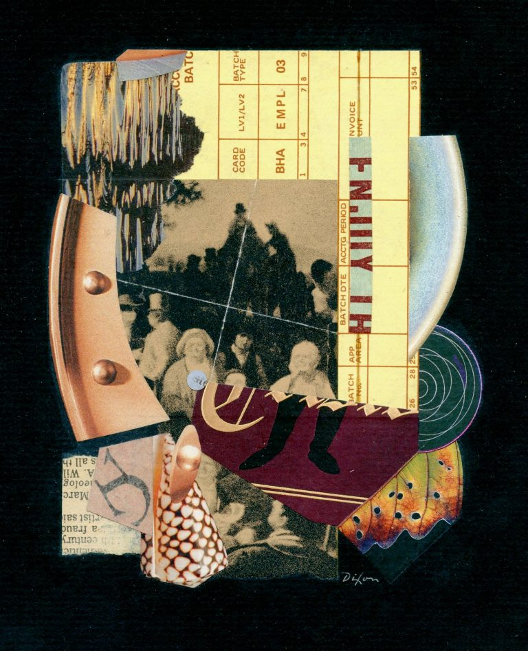 OM.2020.026 - John Andrew Dixon - The Oxidation of Reduces Elasticity - collage on mat board - 10 x 8 inches BOOK