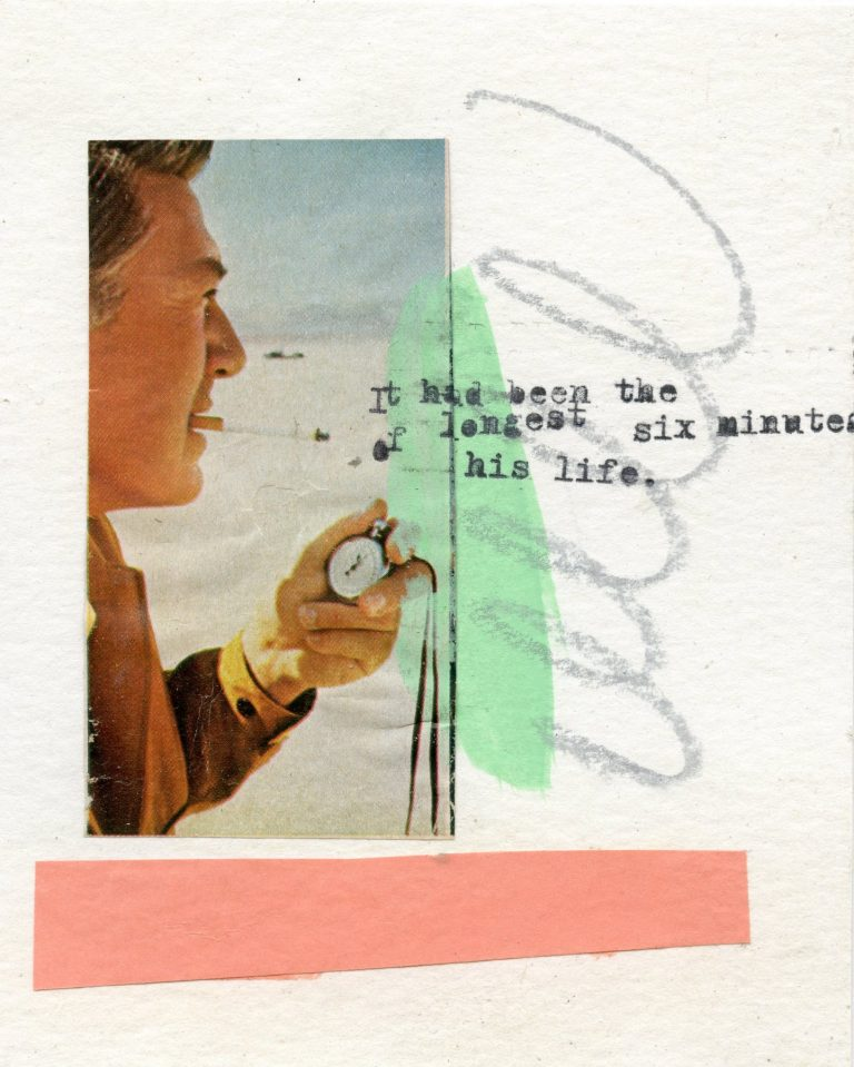 OM.2020.061 - Melissa Donoho - collage multi media on paper - 5 x 4 inches - book