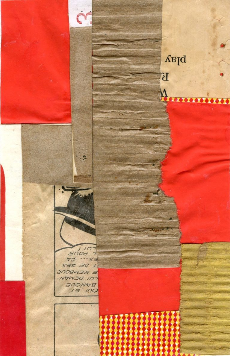 OM.2020.060 - Rosalia Touchon - collage on paper - 6.75 x 4.25 inches-book