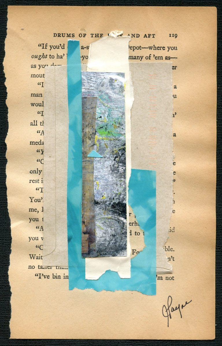 OM.2020.069 - Julia Payne - collage on paper - 8 x 5 inches - book